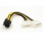 Dual Molex LP4 4 Pin to 8 Pin PCI-E Express Converter