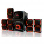Sisteme acustice Dialog Progressive 5.1 AP-555 BLACK, 40W+5*12W RMS