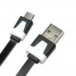 Cable Dialog CU-0318F, microUSB B (M) - USB A (M), flat, V2.0, 1.8m