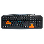 Tastatură Nakatomi KN-11U Black-Orange
