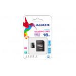 ADATA microSDHC 16Gb UHS-I, Class10, w/SD adapter