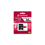 32GB MicroSDHC Transcend TS32GUSDU1 Premium, Class 10, SD adapter, UHS-I, 400X