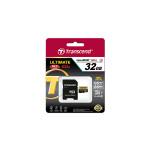 32GB MicroSDHC Transcend TS32GUSDU3 Ultimate+, Class 10, SD adapter, UHS-I, 633x