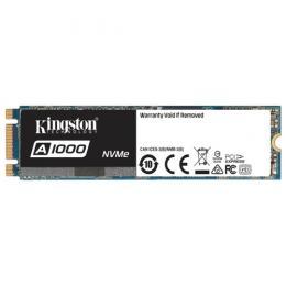 Kingston A1000, M.2 NVMe SSD 480GB, PCIe3.0 x2 / NVMe1.2