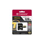 128GB MicroSDHC Transcend TS128GUSDU3M Ultimate, Class 10, SD adapter, UHS-I, U3M
